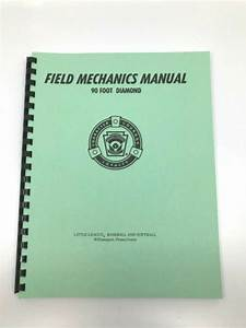 Field Mechanics Manual 90 Ft Diamond Little League
