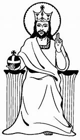 Jesus King Coloring Christ Pages Colouring Drawing Clipart Play Clipartbest Getdrawings Popular sketch template