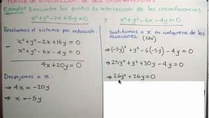 Puntos De Intersecci U00f3n De Dos Circunferencias