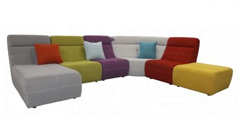 grand canapé d angle en tissu grand canapé d 39 angle multicolore osaka revêtement tissu