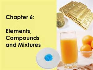 Elements Compounds and Mixtures Examples