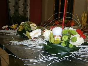 Art Floral Centre De Table Noel : cours d 39 art floral centre de table no l 3 fleuriste chlorophylle foix en ari ge ~ Melissatoandfro.com Idées de Décoration