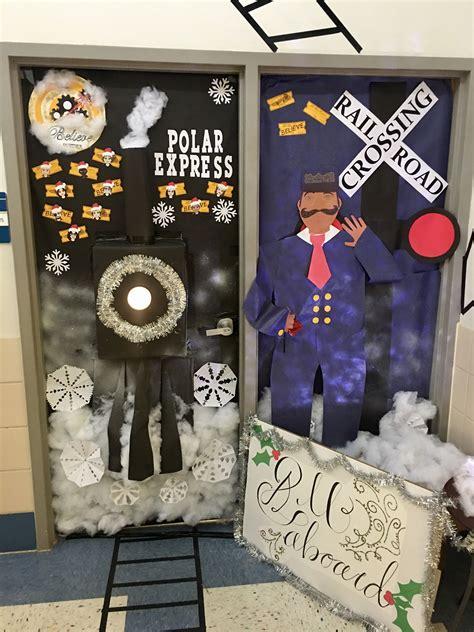 polar express door decoration  school school