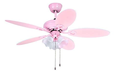pink ceiling fan to add more at any room decor