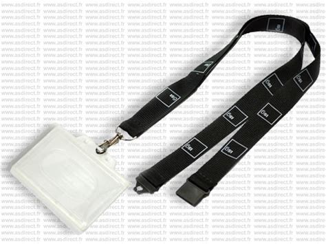 porte badge avec cordon asdirect fr cordon tour de cou personnalis 233 noir avec porte badge