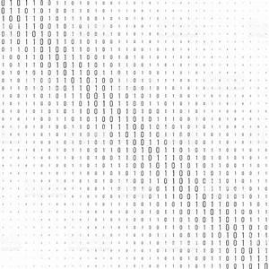 Binary Code Black And White Background stock vector art ...