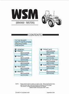 Kubota M4900  M5700 Tractor Workshop Service Manual