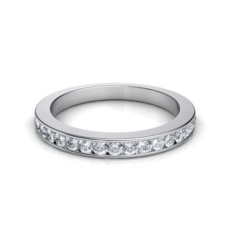 3mm 051 Ct Channel Set Round Cut Diamond Wedding Band