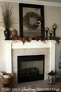 Chic, On, A, Shoestring, Decorating, Burlap, Fall, Mantle