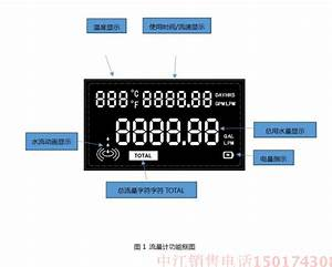 Intelligent Electronic Water Meter Hall Flow Count Display