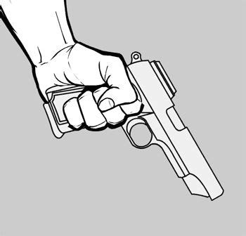 hand holding gun drawing google search character