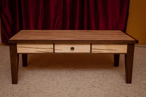 Walnut And Ambrosia Maple Coffee Table  By Marcus