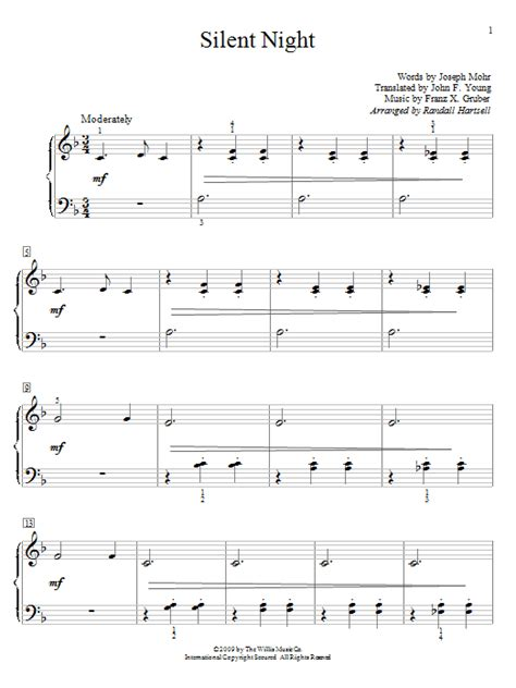 Jesus, lord, at thy birth. Silent Night sheet music by Franz Gruber (Easy Piano - 71186)