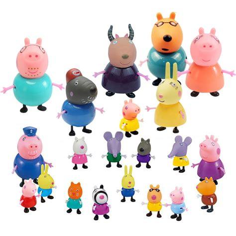 Kids Gift 21 Pcs Peppa Pig Family&friends Emily Rebecca