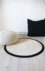 Tapis Blanc Rond : d co boh me en rose noir et blanc joli place ~ Dallasstarsshop.com Idées de Décoration