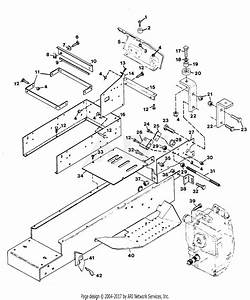Gravely 47577 16hp  Without Hydraulic Lift Parts Diagram