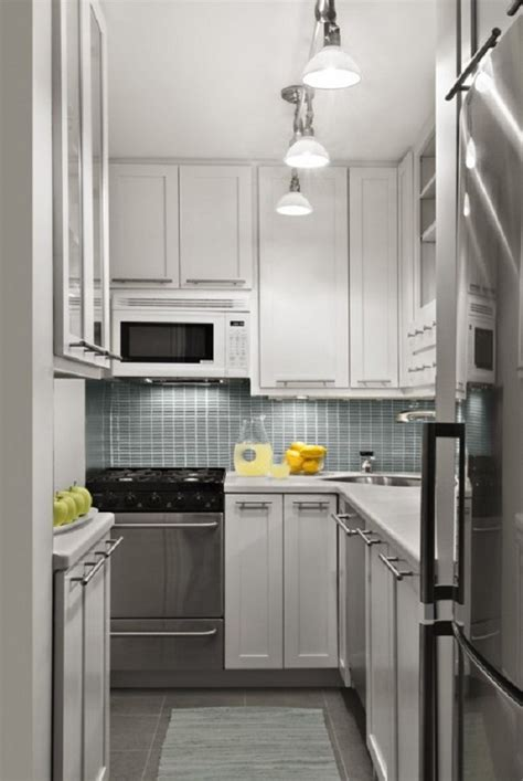 kitchen design ideas 2013 small kitchen design ideas spotlights white cabinets grey