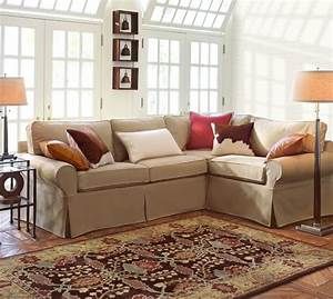 pb basic slipcovered 3 piece sectional pottery barn With pottery barn style sectional sofa