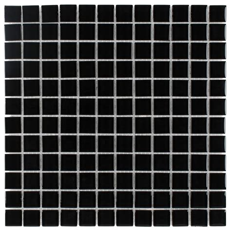 glass mosaic tile backsplash black  mineral tiles