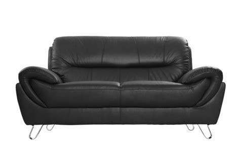 promo canape cuir canapé cuir design noir 2 places kansas prix promo miliboo