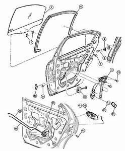 2000 Dodge Neon Latch  Rear Door  Manual