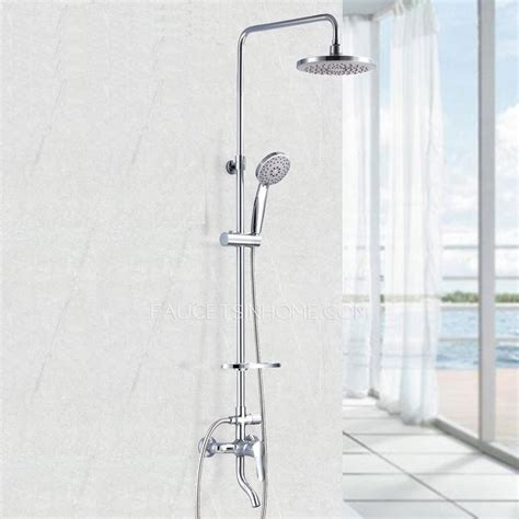 faucet types kitchen modern chrome exposed shower faucets system abs top shower