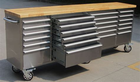 """Hyxion   Thor 96""""stainless Steel Tool Chest Uk   Buy"""