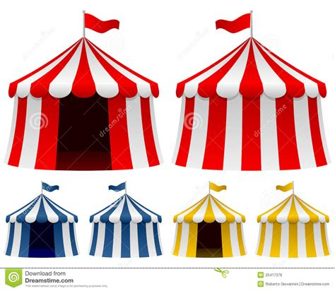 circus tent collection stock vector illustration