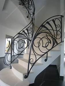 Rampe D Escalier Moderne : rampes d 39 escalier en fer forg art nouveau mod le nouille ~ Melissatoandfro.com Idées de Décoration
