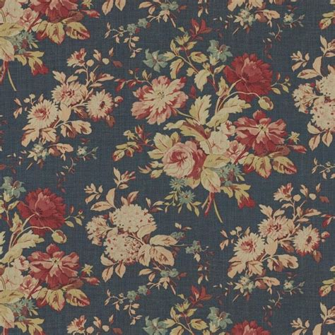 Ralph Upholstery Fabric by Ralph Fabric Lcf24311f Newbury Floral Blue Inside
