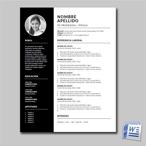 Il cv formato europeo ha certamente un grandissimo pregio: Cv Curriculum Vitae Diseño Profesional - Para Word - $ 69.00 en Mercado Libre