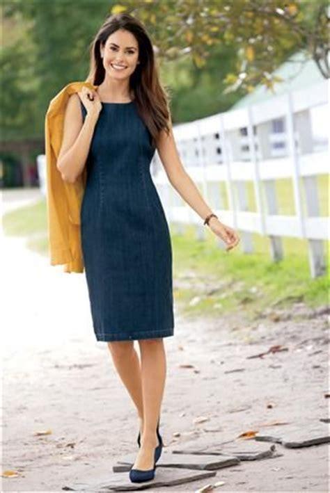denim sheath dress chadwickscom   wear