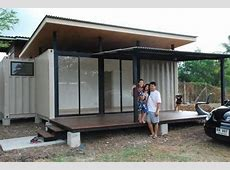 Neat Little Shipping Container Prefab Built in Bangkok