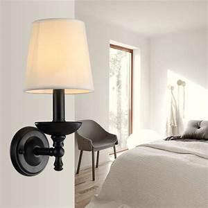 Bedroom, Lamps, American, Bedroom, Bedside, Lamp, Wall, Lamp, Lighting, Bright, Cloth, Shade, Garden