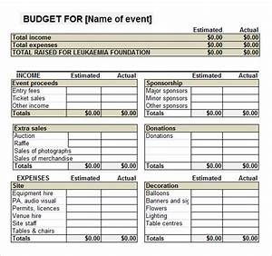 not for profit budget template - 7 event budget templates sample templates
