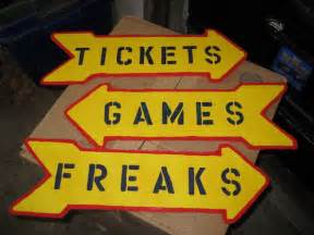 Halloween Carnival Game Signs