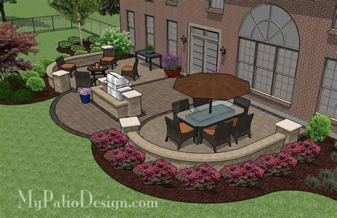 my patio design arcs patio design with grill station and seat wall 845