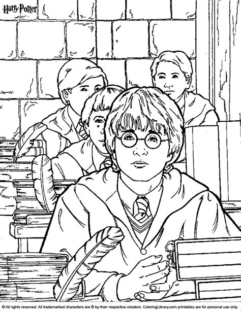Harry Potter coloring pages Harry potter coloring pages