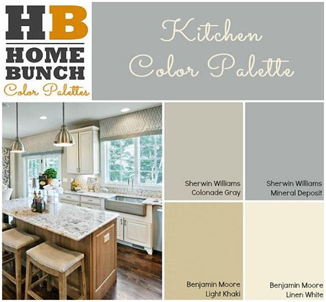 kitchen color palette sherwin williams colonade gray