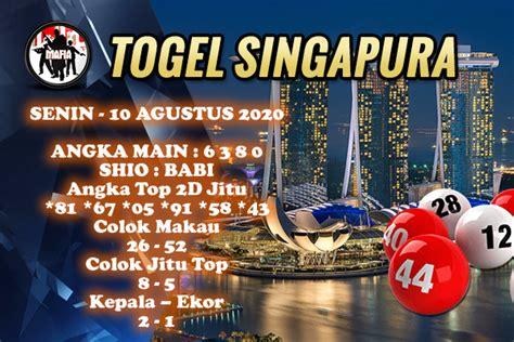 PREDIKSI TOGEL SINGAPURA SENIN 10 AGUSTUS 2020