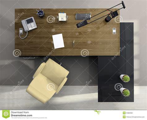 top office com fauteuil bureau vue de ci dessus du bureau photographie stock image 5382092
