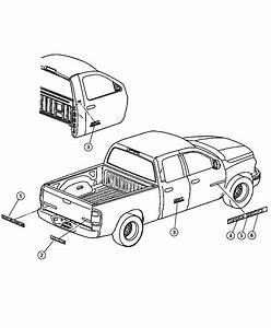 2004 Dodge Ram 1500 Nameplate  Tailgate  Heavy Duty  Box