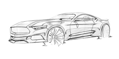 Kleurplaat Lamborghini Urus by Ford Mustang Design Sketch By Kemal Curic Car Design