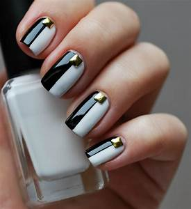 Black and white nail designs below nothing is more chic than a