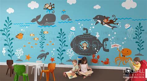 Wandtattoo Kinderzimmer Unterwasserwelt by Wall Decals Underwater World Whale Octopus