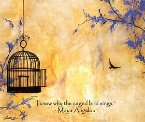 """Free Bird"" with Maya Angelou quote - Fine Art Print ..."