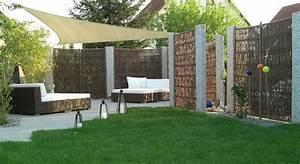 Sichtschutz Für Garten Und Terrasse : sichtschutz garten terrasse bauhaus mit sonnensegel einbau ~ Michelbontemps.com Haus und Dekorationen