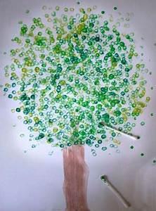 Malen Mit Kleinkindern Ideen : malen mit kindern ein wattest bchen baum kreative ~ Watch28wear.com Haus und Dekorationen