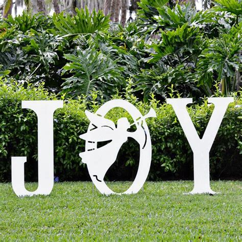 joy angel yard sign christmas yard art