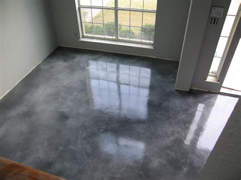 stained concrete floors cost   stain diy